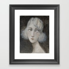 1920's style young woman Framed Art Print