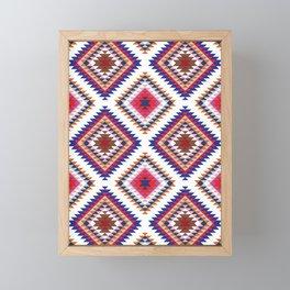 Aztec Rug Framed Mini Art Print