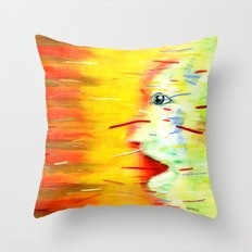 Panic Throw Pillow