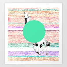 Horse, horse. Art Print