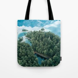 Mountain in a Lake - Landscape Photography Tote Bag