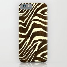 Animal Print Zebra in Winter Brown and Beige iPhone 6s Slim Case