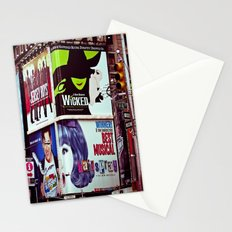 New York City Broadway Signs Stationery Cards