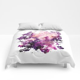 floral galaxy Comforters