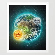 The Earth Art Print