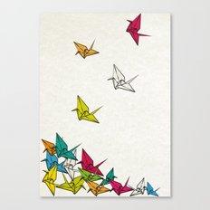 cranes origami Canvas Print