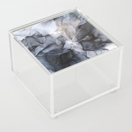 Calm but Dramatic Light Monochromatic Black & Grey Abstract Acrylic Box