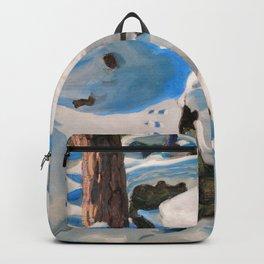 Akseli Gallen-Kallela - The Lynx Den - Digital Remastered Edition Backpack