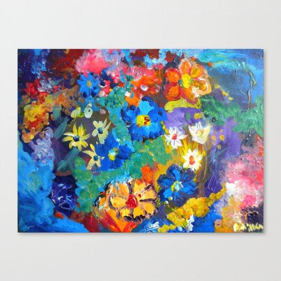 Flora Azul Canvas Print