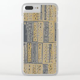 Abstract circuitry rectangles Clear iPhone Case