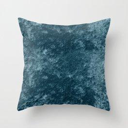 Peacock teal velvet Throw Pillow