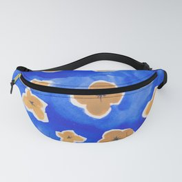 Yellow Flowers in a Blue Field Fanny Pack