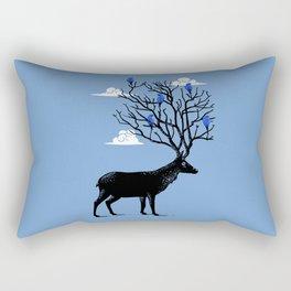 Deer horns tree Rectangular Pillow