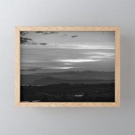Sunset over Howick, South Africa Framed Mini Art Print