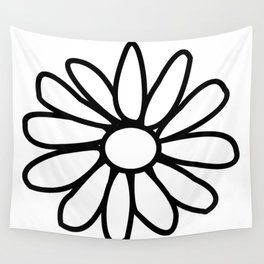 Imperfect Daisy Outline Wall Tapestry