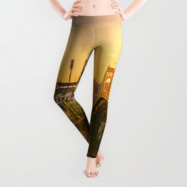 Pittsburgh Ballpark Riverview Sunrise Print Leggings