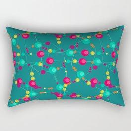 Colorful peas on green background. Retro. Rectangular Pillow