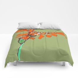 Autumn Olive Gerbera Comforters