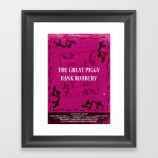 The Great Piggy Bank Robbery Framed Art Print