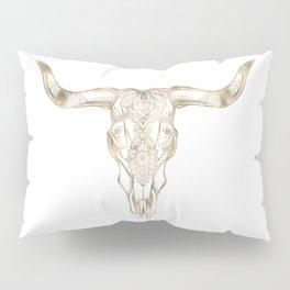 Bull Skull Gold Pillow Sham