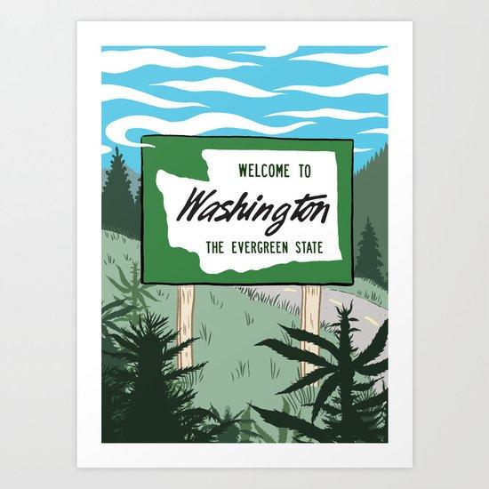 Welcome to Washington Art Print