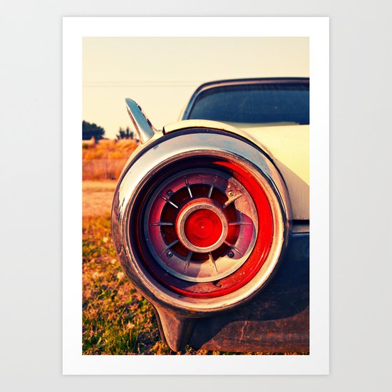 T-Bird taillight Art Print
