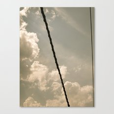 On a wire Canvas Print