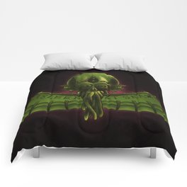 Asleep At Sea - Green Version Comforters