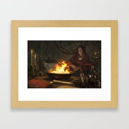 Visions of Fire Framed Art Print