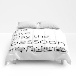 Live, love, play the bassoon Comforters