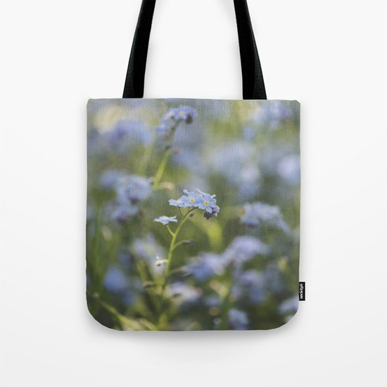 Forget-me-not meadow Spring Flower Flowers Floral on #Society6 Tote Bag