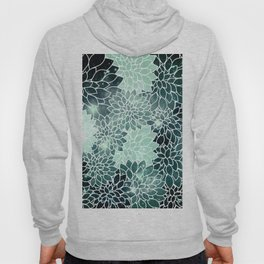 Space Dahlias Spearmint Green Hoody