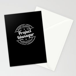 Best Project Manager retro vintage distressed logo Stationery Cards