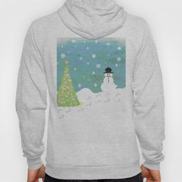 Snowman on Christmas Day Hoody
