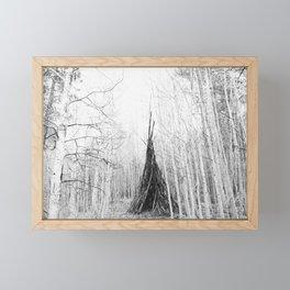 Aspen Teepee Framed Mini Art Print