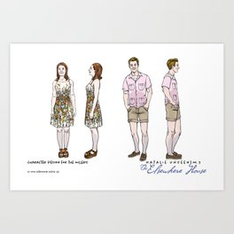 No. 3 character design for the Millers, color Art Print