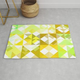 Pale Yellow Poinsettia 1 Abstract Triangles 1 Rug