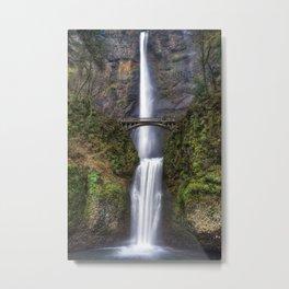 """""""Multnomah Majesty"""" - Oregon's favorite waterfall Metal Print"""