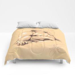 Fontana dei Quattro Fiumi (River God Study) Comforters