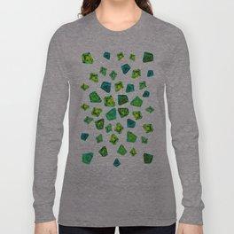 Green beautiful hand drawn gems. Long Sleeve T-shirt