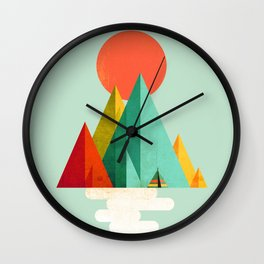 Little Geometric Tipi Wall Clock