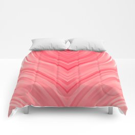 stripes wave pattern 3 dri Comforters