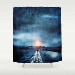 it's raining again Shower Curtain