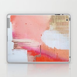 Moving Mountains: a minimal, abstract piece in reds and gold by Alyssa Hamilton Art Laptop & iPad Skin