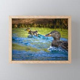Skittering Framed Mini Art Print