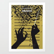 No725 My Amadeus minimal movie poster Art Print