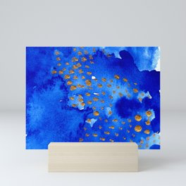 gold snow I Mini Art Print