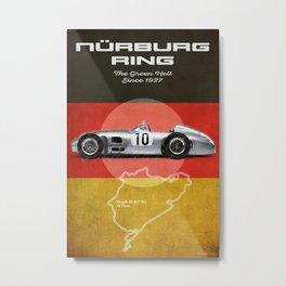 Nürburgring Racetrack Vintage Metal Print