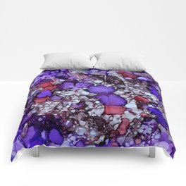 Erratic Purple Comforters