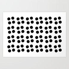 Copijn Black & White Dots Art Print